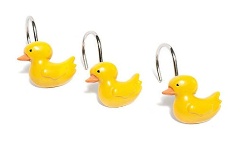 Park Avenue Deluxe Collection Park Avenue Deluxe Collection  inch Ducky inch  Resin Shower Curtain Hooks