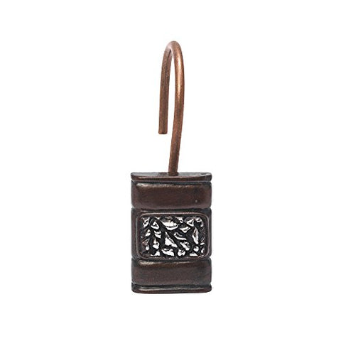 Park Avenue Deluxe Collection Park Avenue Deluxe Collection  inch Seneca inch  Resin Shower Curtain Hooks in Oil Rubbed Bronze