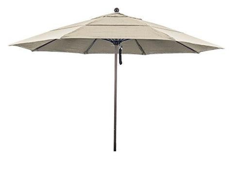 Eclipse Collection 11' Fiberglass Market Umbrella PO DVent Bronze/Olefin/Antique Beige