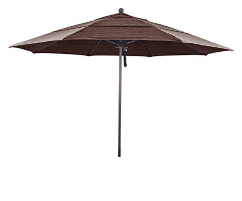 Eclipse Collection 11' Fiberglass Market Umbrella PO DVent Bronze/Olefin/Terrace Adobe