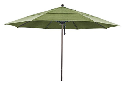 Eclipse Collection 11' Fiberglass Market Umbrella PO DVent Bronze/Sunbrella/Spectrum Cilantro