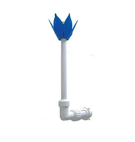 By PoolCentral Adjustable Blue White and Yellow Flower Fountain for Swimming Pool and Spa