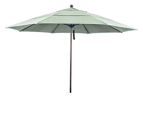 Eclipse Collection 11' Fiberglass Market Umbrella PO DVent Bronze/Pacifica/Tuscan