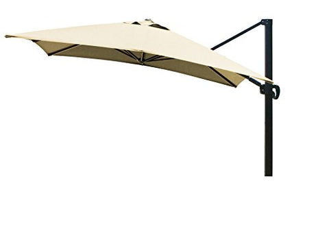 Eclipse Collection 10'x10' SquareCantileverUmbrella CL MultiPositon Bronze/Sunbrella/Wheat