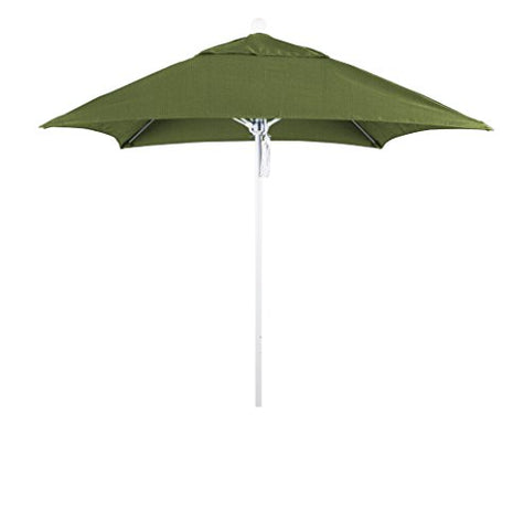 Eclipse Collection 6' Fiberglass Market Umbrella PO DVent Matte White/Sunbrella/Spectrum Cilantro