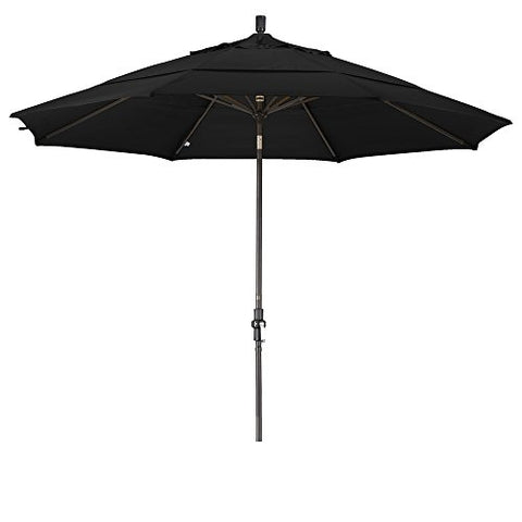 Eclipse Collection 11' Aluminum Market Umbrella Collar Tilt Bronze/Olefin/Black/DWV