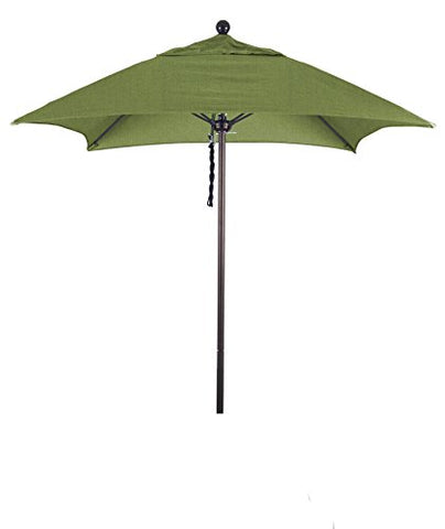 Eclipse Collection 6' Fiberglass Market Umbrella PO DVent Bronze/Sunbrella/Spectrum Cilantro