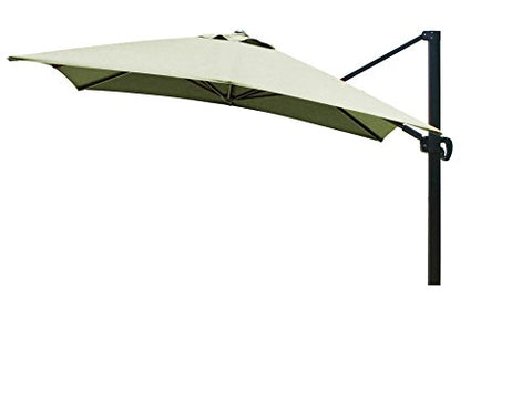 Eclipse Collection 10'x10' SquareCantileverUmbrella CL MultiPositon Bronze/Sunbrella/Spectrum Cilantro