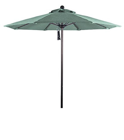 Eclipse Collection 7.5' Fiberglass Market Umbrella PO DVent Bronze/Sunbrella/Specturm Mist