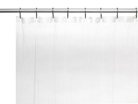 Park Avenue Deluxe Collection Park Avenue Deluxe Collection Shower Stall-Sized 5 Gauge Vinyl Shower Curtain Liner in Super Clear
