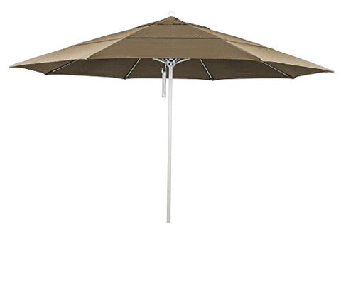 Eclipse Collection 11' Fiberglass Market Umbrella PO DVent White/Sunbrella/Cocoa