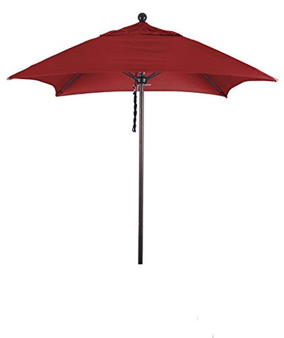 Eclipse Collection 6' Fiberglass Market Umbrella PO DVent Bronze/Sunbrella/Jockey Red