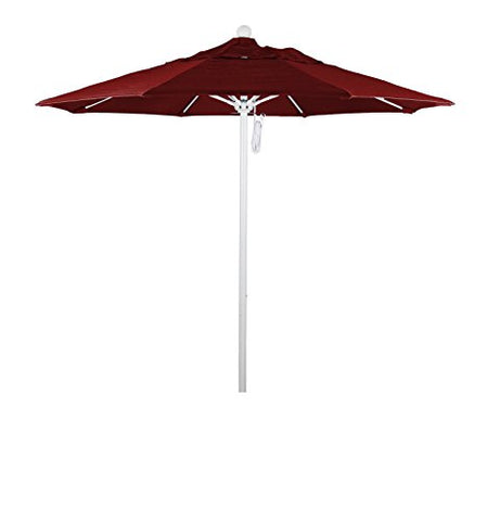Eclipse Collection 7.5' Fiberglass Market Umbrella PO DVent White/Sunbrella/Jockey Red