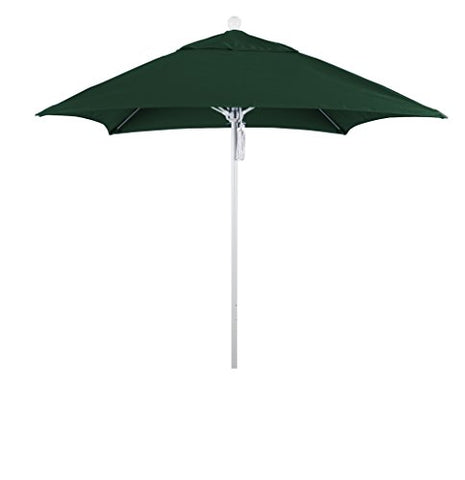 Eclipse Collection 6' Fiberglass Market Umbrella PO DVent Matte White/Sunbrella/ForestGreen