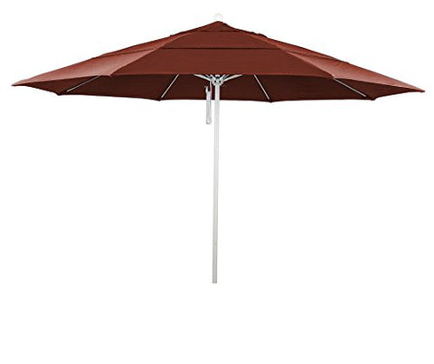 Eclipse Collection 11' Fiberglass Market Umbrella PO DVent MWhite/Olefin/Terracota