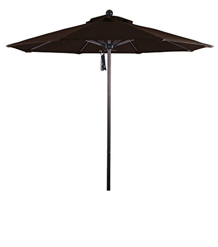 Eclipse Collection 7.5' Fiberglass Market Umbrella Pulley Open Bronze/Pacifica/Mocha