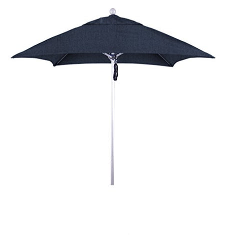 Eclipse Collection 6' Fiberglass Market Umbrella PO DVent Silver Anodized/Sunbrella/Spectrum Indigo