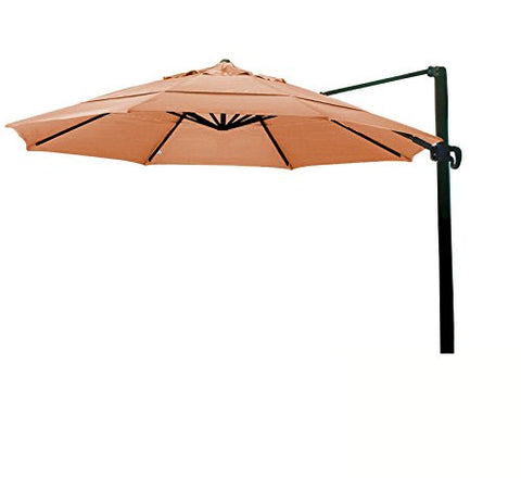 Eclipse Collection 11' CantileverUmbrella CrankLift MultiPositon Tilt Bronze/Sunbrella/Tuscan