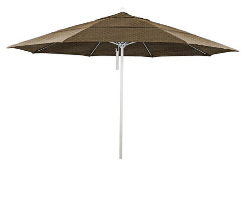 Eclipse Collection 11' Fiberglass Market Umbrella PO DVent MWhite/Olefin/Straw