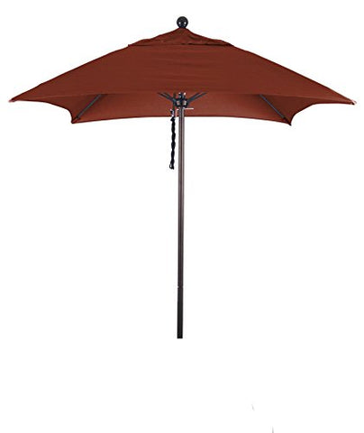 Eclipse Collection 6' Fiberglass Market Umbrella PO DVent Bronze/Sunbrella/Terracotta