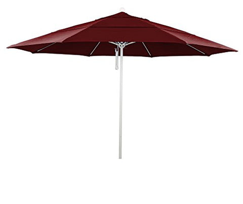 Eclipse Collection 11' Fiberglass Market Umbrella PO DVent MWhite/Olefin/Red
