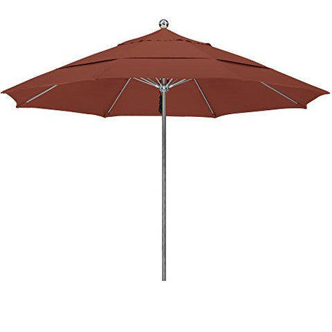 Eclipse Collection 11'SSteel SinglePole FGlass Ribs M Umbrella DV Anodized/Sunbrella/Henna