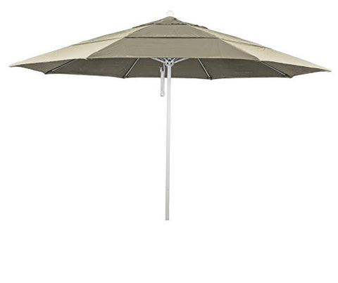 Eclipse Collection 11' Fiberglass Market Umbrella PO DVent MWhite/Olefin/Antique Beige