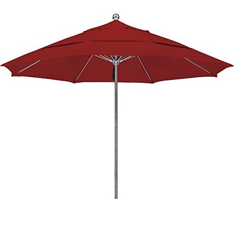 Eclipse Collection 11'SSteel SinglePole FGlass Ribs M Umbrella DV Anodized/Sunbrella/Terracotta