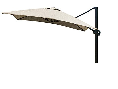 Eclipse Collection 10'x10' SquareCantileverUmbrella CL MultiPositon Bronze/Sunbrella/Ses.Linen
