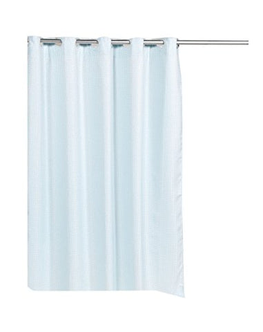 Park Avenue Deluxe Collection Park Avenue Deluxe Collection Pre Hooked? Waffle Weave Fabric Shower Curtain in Spa