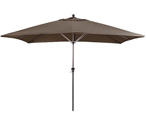 Eclipse Collection 11'X8' Rectangular Aluminum Market Umbrella Bronze/Sunbrella/Bay Brown