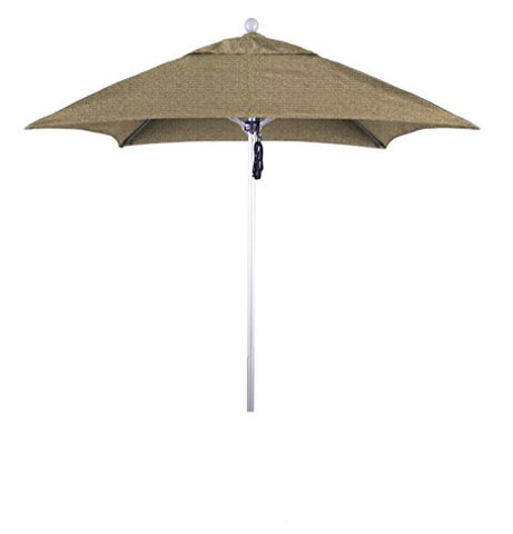 Eclipse Collection 6' Fiberglass Market Umbrella PO DVent Silver Anodized/Sunbrella/Ses.Linen