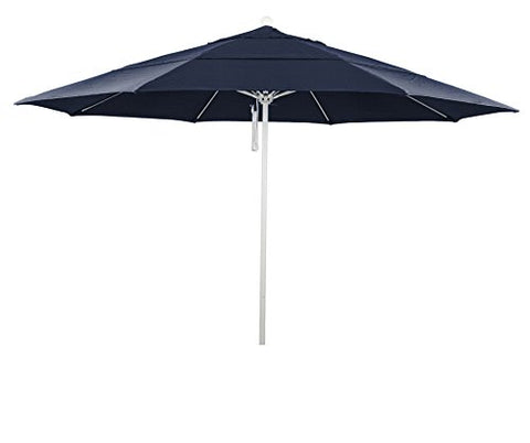 Eclipse Collection 11' Fiberglass Market Umbrella PO DVent MWhite/Pacifica/Navy Blue