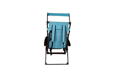 Patio Bliss Aluminum Backpack Gravity Free Recliner - Mist Blue