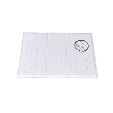 Park Avenue Deluxe Collection Park Avenue Deluxe Collection Medium-Sized Memory Foam Bath Mat in White