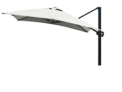 Eclipse Collection 10'x10' SquareCantileverUmbrella CL MultiPositon Bronze/Sunbrella/Granite