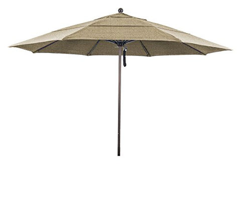 Eclipse Collection 11' Fiberglass Market Umbrella PO DVent Bronze/Sunbrella/Ses.Linen