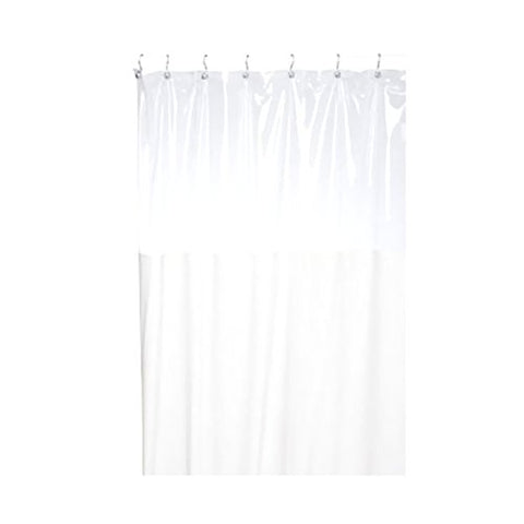 Park Avenue Deluxe Collection Park Avenue Deluxe Collection  inch Window inch  Vinyl Shower Curtain in Ivory