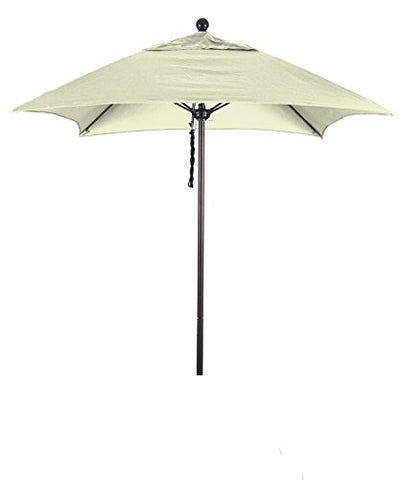 Eclipse Collection 6' Fiberglass Market Umbrella PO DVent Bronze/Sunbrella/Natural