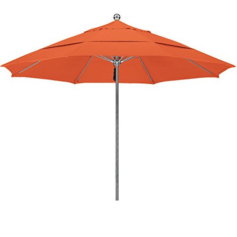 Eclipse Collection 11'SSteel SinglePole FGlass Ribs M Umbrella DV Anodized/Sunbrella/Tuscan