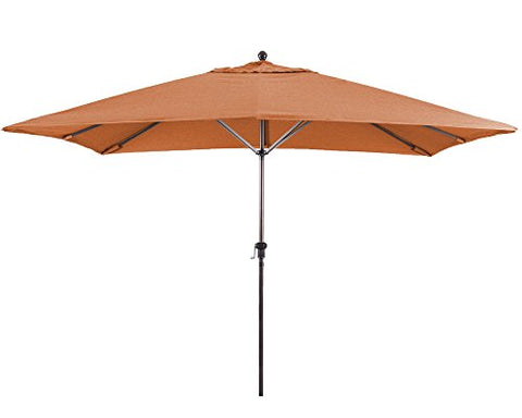Eclipse Collection 11'X8' Rectangular Aluminum Market Umbrella Bronze/Sunbrella/Tuscan