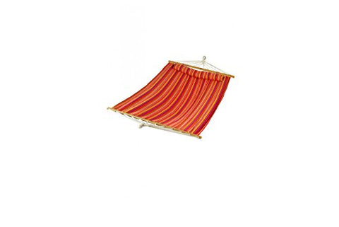 Patio Bliss Oversized Hammock with Spreader Bars and Pillow - Country Club