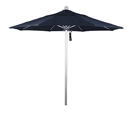 Eclipse Collection 7.5' Fiberglass Market Umbrella PO DVent Silver Anodized/Sunbrella/Spectrum Dove