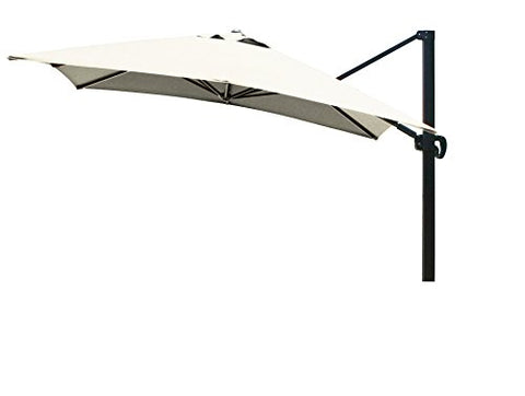 Eclipse Collection 10'x10' SquareCantileverUmbrella CL MultiPositon Bronze/Sunbrella/Canvas