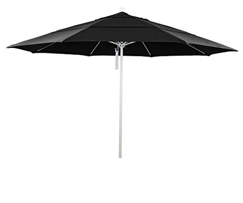 Eclipse Collection 11' Fiberglass Market Umbrella PO DVent MWhite/Pacifica/Black