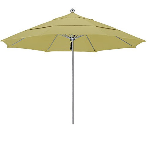 Eclipse Collection 11'SSteel SinglePole FGlass Ribs M Umbrella DV Anodized/Sunbrella/Heather Beige