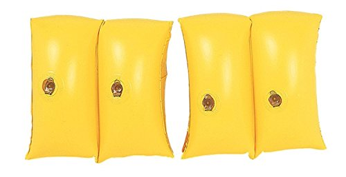 By PoolCentral Set of 2 Yellow Inflatable Swimming Pool Arm Floats for Kids 3-6 Years