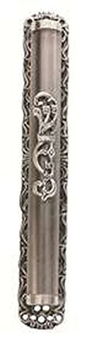 Ultimate Judaica Mezuzah Cover with Floral Shin Daled Yud Design - 10 CM