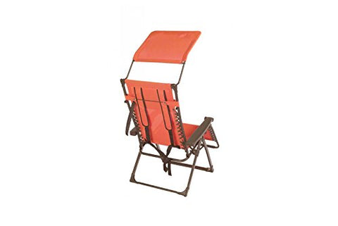 Patio Bliss Aluminum Backpack Gravity Free Recliner - Sunset Orange