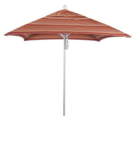 Eclipse Collection 6' Fiberglass Market Umbrella PO DVent Matte White/Sunbrella/Dolve Mango
